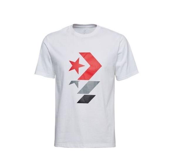 CONVERSE- 星箭白色短袖上衣 -NO.10017452-A01