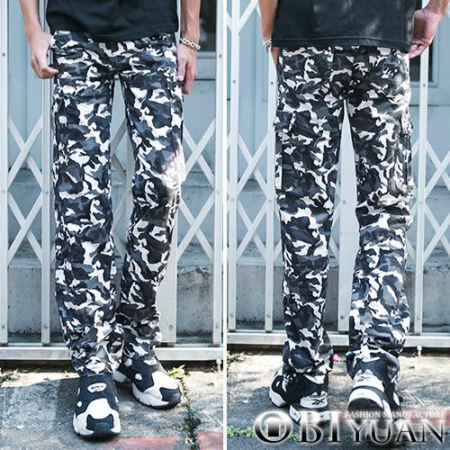 迷彩工作褲【P3152】OBI YUAN韓版專櫃軍風側邊口袋彈性休閒褲 共3色