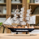 家居裝飾品 創意帆船模型一帆風順家居客廳裝飾品擺件酒柜玄關書架桌面【快速出貨八折搶購】