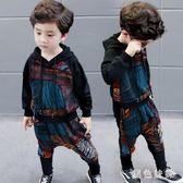 男童套裝 男童秋裝大碼新款韓版秋季童裝帥氣套裝兒童秋款男寶寶洋氣潮衣 Mt7838【黑色妹妹】