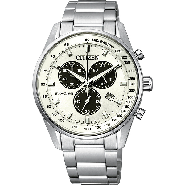 CITIZEN 星辰 Eco-Drive 光動能計時手錶-銀/40mm AT2390-58A