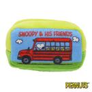 【日本進口正版】史努比 Snoopy 公車款 棉質 長型 收納包 零錢包 PEANUTS - 293282