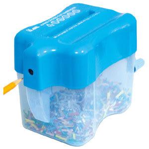 [奇奇文具] 【力大 ABEL 碎紙機】04802 手動式全碎型碎紙機/桌上型手動碎紙機/削鉛筆機