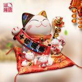正版福緣貓開運禮物創意發財貓日式店鋪擺設陶瓷儲錢罐收銀臺擺件