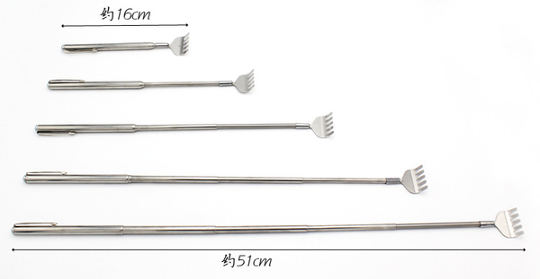 TwinS不鏽鋼鋼筆式可伸縮不求人撓癢器 抓背耙子16-51cm
