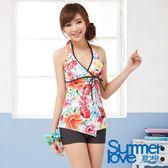 【夏之戀SUMMERLOVE】繽紛花卉長版兩件式泳裝-E14724