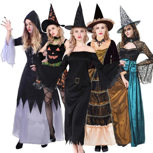 萬圣節服裝女成人女巫cos吸血鬼小紅帽斗篷大人吸血鬼巫婆鬼新娘