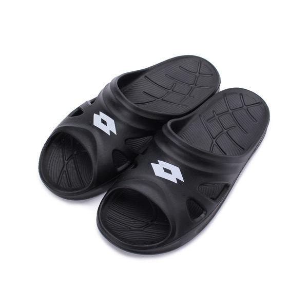 LOTTO 零重力Q彈拖鞋 黑 LT9AMS0830 男鞋 鞋全家福