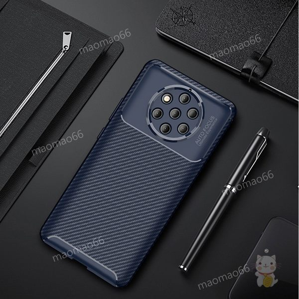 碳纖維紋質感殼 諾基亞 Nokia 9 Pure View手機殼保護殼套防摔全包邊軟殼舒適手感防手汗簡約商