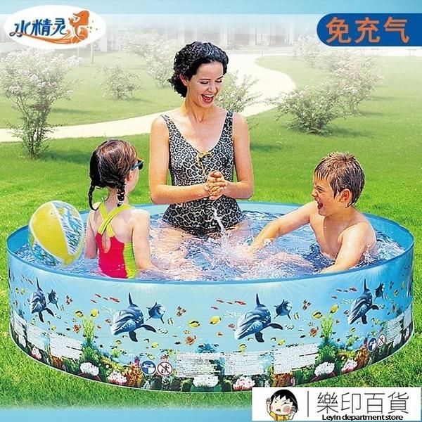 游泳池家用兒童戲水泳池小孩大人大型可折疊戶外免充氣寶寶戲水池 樂印百貨