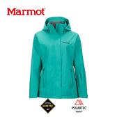 【速捷戶外】美國 Marmot 土撥鼠 35570  女Goretex 兩件式防水透氣外套(湖水綠),登山雨衣,防水外套