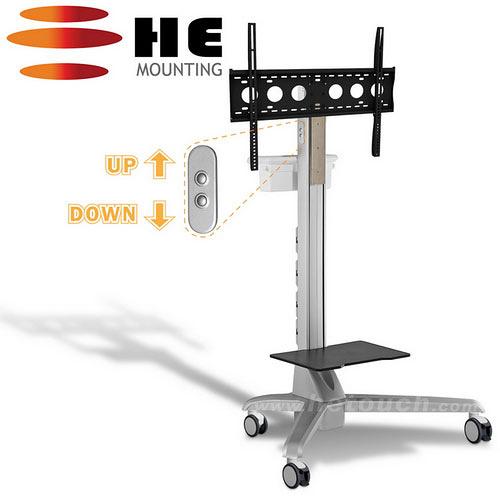 HE 鉅? 電動升降鋁合金多媒體推車-適用80公斤以內 H660CTP 全配