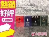 POLO RL馬球小香禮盒4件組 15MLx4◐香水綁馬尾◐