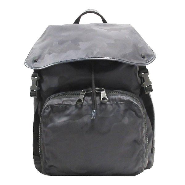 VALENTINO 范倫鐵諾 深藍色迷彩尼龍後背包 Camouflage Backpack【BRAND OFF】