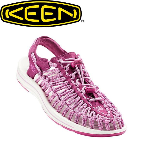 【KEEN 美國 女款 編繩涼鞋《暗紅/粉紅》】1016894/編織涼鞋/涼鞋/休閒涼鞋