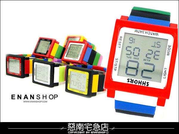 觸控電子錶惡南宅急店【0336F】造型手錶‧IPHONE觸控設計 電子手錶 情侶對錶可‧單支價