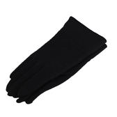 CHLOE 刺繡LOGO混喀什米爾羊毛手套(黑色)