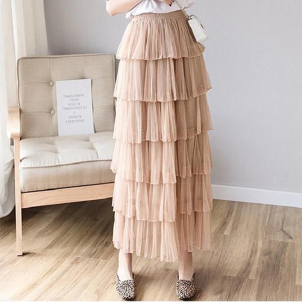 午茶女孩層層網紗蛋糕裙
