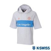 K-SWISS Club Hood T-Shirt短袖連帽上衣-男-淺灰