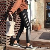2018新款女裝春裝韓版學生胖MM束腳休閒褲女寬鬆百搭運動褲九分褲 美芭