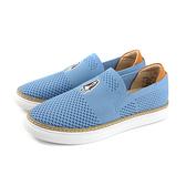 Hush Puppies 懶人鞋 休閒鞋 針織 水藍色 女鞋 6191W120603 no147