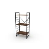 (組)特力屋萊特三層架黑框/深木紋-60x40x128CM