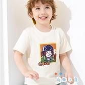 男童短袖T恤兒童T恤上衣夏裝童裝棉【奇趣小屋】