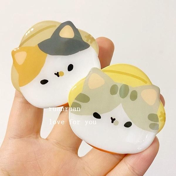 韓國ins風萌貓氣囊支架手機通用可伸縮可愛懶人追劇少女