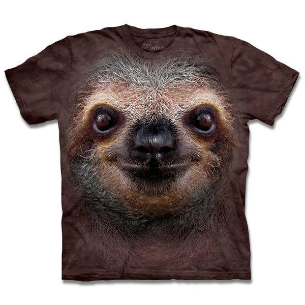 【摩達客】 (預購) 美國進口【The Mountain】自然純棉系列 樹懶臉 T恤(10413045052a)