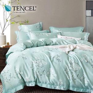 【貝兒居家寢飾生活館】100%萊賽爾天絲兩用被床包組(加大雙人/花雨露)
