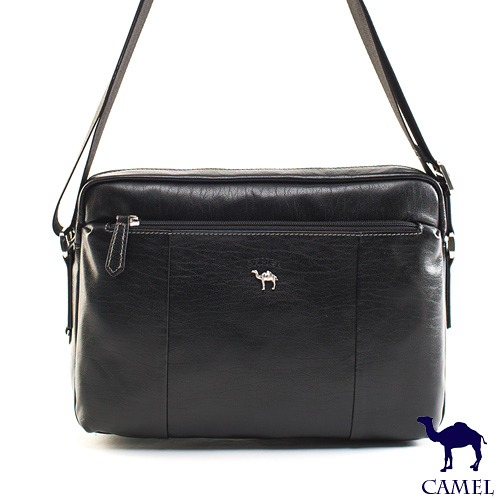 CAMEL - 經典Flair小牛真皮系列白領型男款側背包