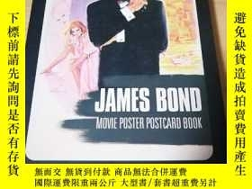 二手書博民逛書店James罕見Bond movie poster postcar