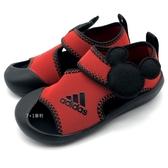 《7+1童鞋》ADIDAS  ALTAVENTURE MICKEY  I 迪士尼 米老鼠聯名款  前包 輕量 止滑防水 運動涼鞋 7352 紅色