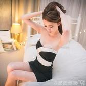 夜店女裝性感新款拼色摺皺緊身包臀抹胸連身裙裹胸伴娘小禮服 衣間迷你屋