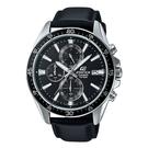CASIO EDIFICE 三針三眼賽車夜光指針錶(EFR-546L-1A)-黑x51mm
