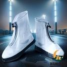 鞋套防水防滑加厚耐磨底中高筒拉鏈男女防雨腳套雨鞋套【創世紀生活館】