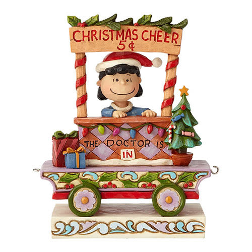 《Enesco精品雕塑》SNOOPY 露西聖誕列車塑像-All Welcome(Peanuts by Jim Shore)_EN96029