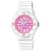 CASIO手錶專賣店 卡西歐 LRW-200H-4C 兒童錶 小巧 運動 指針錶 橡膠錶帶 粉紅 防水100米