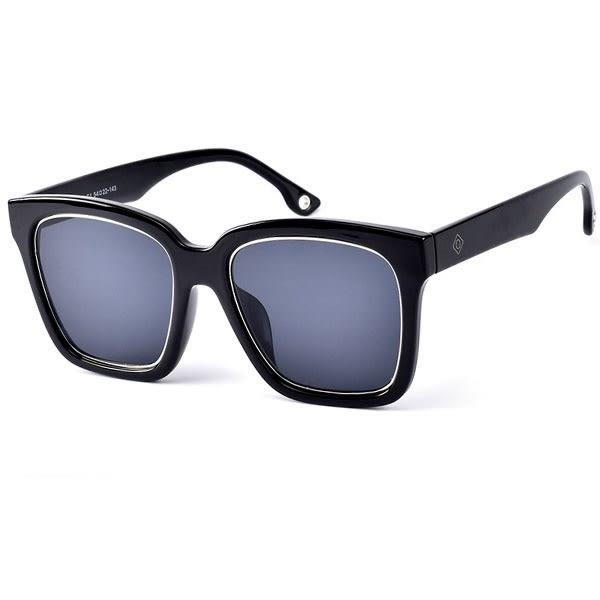OT SHOP太陽眼鏡‧歐美方框粗框抗UV炫彩鏡片墨鏡‧全黑/藍反光/黑反光/粉反光‧現貨‧T25