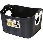 〔小禮堂〕迪士尼 米奇 日製置物籃《2.5L.黑.造型提把.方形》輕鬆美化空間 4904121-34028