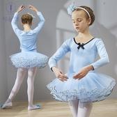 爆款熱銷兒童舞蹈服兒童舞蹈服女童長袖練功服春秋季幼兒芭蕾舞裙女孩跳舞演出服裝聖誕節