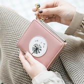 錢夾女短款學生韓版可愛時尚超薄簡約兩折疊零錢包【聚可愛】