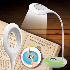 【買1送1】精密維修.鑑賞.閱讀用LED護眼檯燈放大鏡 燈色可變放大鏡檯燈買就送30件式精密起子組