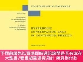 二手書博民逛書店Hyperbolic罕見Conservation Laws In Continuum PhysicsY2551
