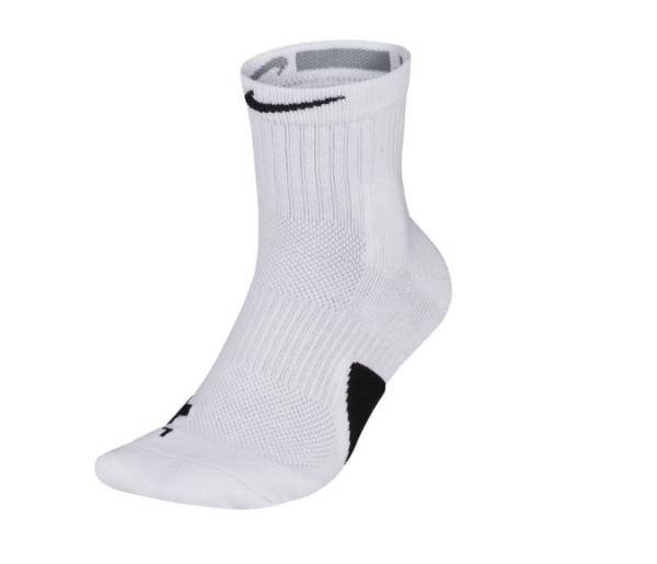 Nike U NK ELITE MID 襪子 運動長襪 籃球襪 一雙入 SX7625100 白【iSport愛運動】