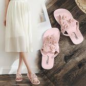 2018新款人字拖女夏季時尚防滑夾腳沙灘平底跟外穿女士涼拖鞋外出