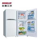 【SANLUX 台灣三洋】192L 定頻雙門電冰箱 《SR-B192B》全新原廠保固 (珍珠白)