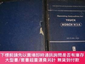 二手書博民逛書店OPERATING罕見INSTRUCTIONS FOR TRUCK,【1956年版】Y10852 HORCH