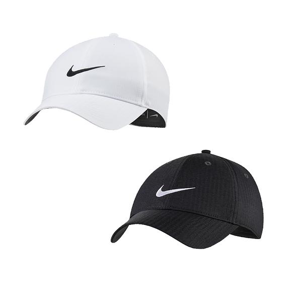 Nike 黑 白 帽子 棒球帽 運動帽 網球帽 運動 刺繡 logo 六分割帽 可調整式 BV1076-010 BV1076-100