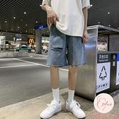 破洞五分牛仔褲男大碼夏季薄款短褲直筒寬松【大碼百分百】